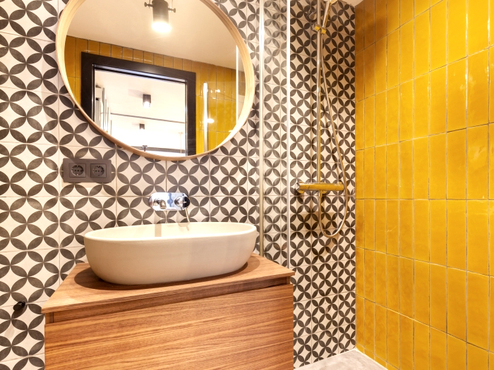 Baño mosaico hidráulico